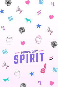 PINK COLLEGE Pink's Got Spirit Wallpaper