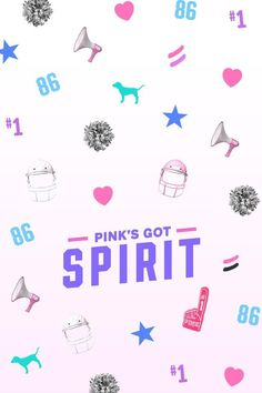 PINK COLLEGE Pink's Got Spirit Wallpaper