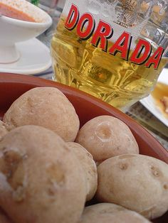 Dorada local beer brewed in Tenerife, excellent with canarian potatoes and mojo red canarian sauce.