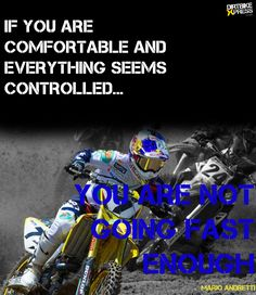 when i was riding with my group we allways said if you aren't wrecking you are not going as fast as you can..