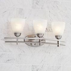 """Possini Deco Nickel Collection 23 1/2"""" Wide Bath Light"""