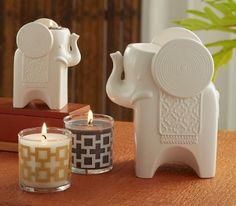 Elefantit & pienet safari chic kynttiläpurkit Shop online www.tanjasavela.partylite.fi