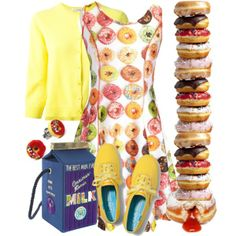 """""""Donuts and Milk"""" by cavell on Polyvore"""