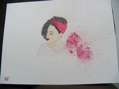 Aquarelando... Blogueira Rayza Nicacio #watercolor #aquarela #aquarelle #rayzanicacio #blogueira #cachos #bandana