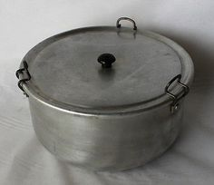 Aluminium Pudding Steamer Basin Bowl Tin Vintage Retro large 10 cup capacity in Home & Garden | eBay