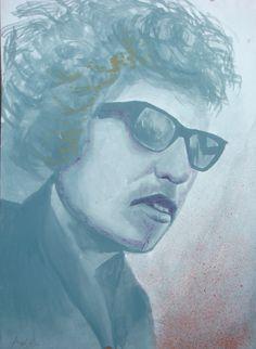 Jonathan García Ayala Bob Dylan  33.5 x 24 cm 12 de octubre de 2016  ***(Curiosamente lo terminé un día antes de que ganara el Premio Nobel de Literatura) Acrílico sobre papel