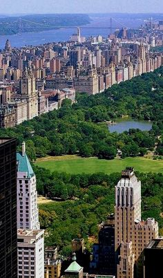 NYC. Central Park and Upper West Side looking North