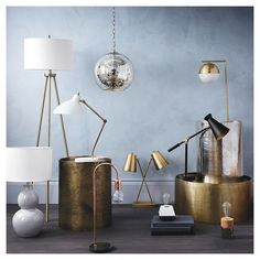 The Modern and Eclectic Lighting Collection combines form and function to brighten your space in style. Inspired by midcentury modern design, it offers lamps and pendant lighting with clean lines, metallic finishes, organic shapes and useful details.