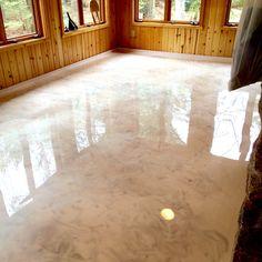 Image Result For White Metallic Epoxy Floor Floor