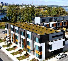 Les maisons de ville Evolo Condominium, House Styles, Home Decor, Terraced House, Homes, Decoration Home, Room Decor, Home Interior Design, Home Decoration