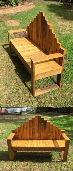 Pallets Bench Ideas #palletfurniturebench