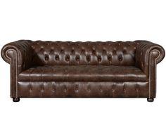 Elitäre Möbelstücke für Ihr Zuhause: Das 3-Sitzer Sofa BINGLEY ist gemacht für einen niveauvollen Wohnzimmer-Style. Die geknöpfte Optik und der kastanienbraune Lederbezug machen BINGLEY zum hochwertigen Möbelstück, auf dem man gerne zur Ruhe kommt. Kuscheln Sie sich mit einem weichen Plaid auf den neu gewonnen Sitzplatz und genießen Sie Ihre Lektüre oder Lieblingsfilm. Setzen Sie auf beste Qualität - mit Sofa BINGLEY.