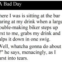 A guy was sitting in the bar, trying to drink off a bad day and then this happened. Funny Shit, Funny Stuff, Hilarious, Adult Fun, Bad Day, Writing Prompts, Jessie, Need To Know, Random Things
