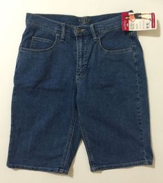 Riders By Lee Blue Denim Bermuda, Walking Shorts Size 10 NWT #Riders #BermudaWalking