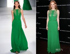 Jessica Chastain In Elie Saab – 40th Anniversary of Sir Charlie Chaplin's Honorary Academy Award