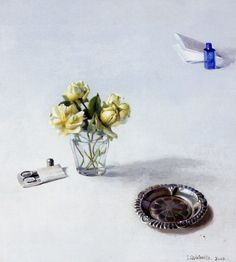 Isabella Quintanilla Spanish Painters, Flower Paintings, Natural Forms, Contemporary Artists, Old And New, Still Life, Accessories, Image, Hyperrealism