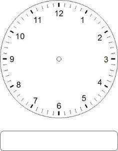 Clock Face Worksheets For Kindergarten