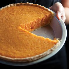Sweet Potato Pie ~ Mrs. Bonner, who passed away in 2000 at the age of 94, kept a marvelous cafe in Crawfordville, GA, population 534.  There was just one dessert available - sweet potato pie.  The secret to its especially bright color is the use of boiled sweet potatoes instead of baked.