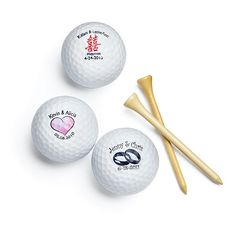 Personalized Golf Ball Favors, My fiance would like this.