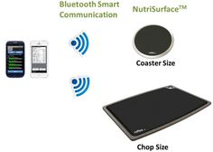 NutriSurface  A Bluetooth food scale designed to monitor the nutritional intake of food for athletes, dieters and those with conditions like diabetes.