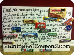Creative Crafty Candy Bar Large Card + More! Great Fathers Day idea!