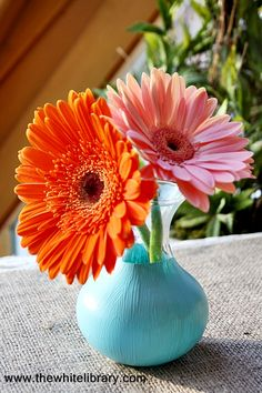 How easy is this? Find a vase. Tape a line.  Paint below tape. Dry. Lovely flower vase. :-)  Some days this is as complicated as I want to get.