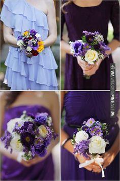purple wedding bouquets | VIA #WEDDINGPINS.NET