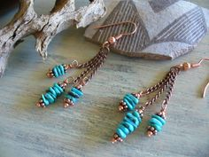 I am obsessed with copper and turquoise together....
