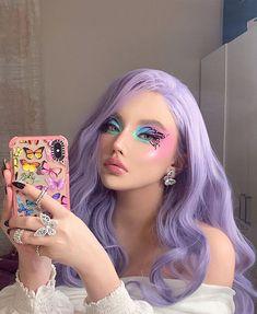 Eye Makeup Art, Skin Makeup, Makeup Inspo, Makeup Inspiration, Beauty Makeup, Cute Makeup Looks, Creative Makeup Looks, Aesthetic Hair, Aesthetic Makeup