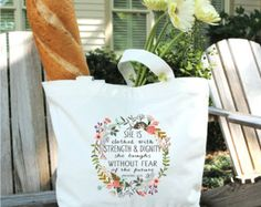 Cotton Canvas Tote Bag-Personalized Tote Bags-Monogrammed