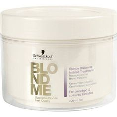 Schwarzkopf Professional Blond Me Blonde Brilliance Intense Treatment - 6 oz -- Continue to the product at the image link.