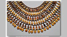 https://flic.kr/p/pEiEtk | Broad collar of Nefer Amulets. Metropolitan Museum of Art, New York, photo Hans Ollermann. | Jewelry from the tomb of the three foreign wifes of Thutmose III. Wadi D, tomb I. New Kingdom. Dynasty 18. c. 1504-1450 BC. Menhet, Menwi and Merti were three foreign-born wives of pharaoh Thutmose III who were buried in a lavishly furnished rock-cut tomb in Wady Gabbanat el-Qurud. Their tomb was originally discovered in August 1916 in the desert mountain cliffs in the…
