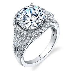 Shop online SIMON G LP1994 Halo 18K - White Gold Diamond Engagement Ring at Arthur's Jewelers. Free Shipping