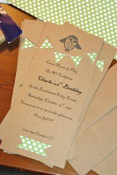 Cute Woodland Party Invitation!