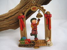 1977 Hallmark Twirl About Bell Ringer Vintage Christmas Ornament – Tree Trimmer Collection - No Box by fromThePeddlersCart on Etsy