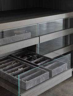 glass fronted drawers | interior accessories Porro                                                                                                                                                                                 More