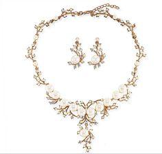 44102 Zinc Alloy,Crystal jewelry set