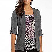 pretty pretty 2 fer blouse/sweater  like the grey color