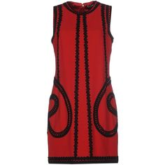Dolce & Gabbana Short Dress ($1,090) ❤ liked on Polyvore featuring dresses, maroon, red sleeveless dress, stretch mini dress, red dress, tube dress and short dresses