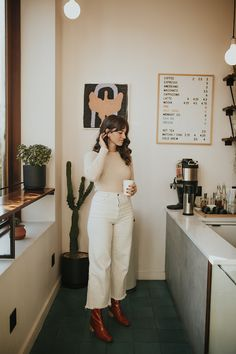 Tonya S. - Almina Concept Sweater, Rachel Comey Legion Pants, Paloma Wool Boots - Simple Fall Look Rachel Comey, Mode Outfits, Fashion Outfits, Womens Fashion, Style Fashion, Ootd Fashion, Fasion, Fall Winter Outfits, Autumn Winter Fashion