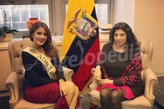 Miss Earth 2016 Katherine Espin invited to her country's Embassy in New York