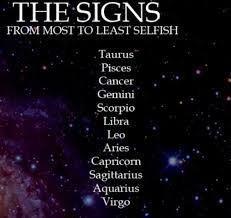 Zodiac Signs - Most To Least Selfish - Page 1 - Wattpad