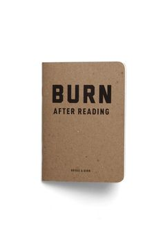 Burn After Reading notebook | Bridge & Burn