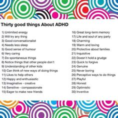 ''Thirty Good Things about ADHD''