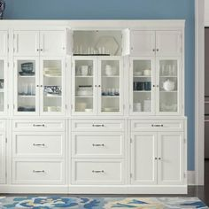 Home Decorators Collection Royce True White Modular Cabinet - The Home Depot Home Decorators Collection, Kitchen Wall Cabinets, Dining Room Storage, Glass Cabinet Doors, Pantry Wall, Kitchen Pantry Cabinets, Home, Modular Cabinets, White Storage Cabinets