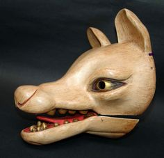"archive-of-masks:  "" Antique Japanese Fox (Kitsune) Mask  """