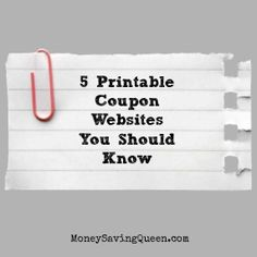 5 Printable Coupon Websites