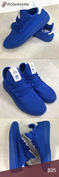5dd303e3d13 Adidas Pharrell Williams Blue Tennis HU Shoes 6 J