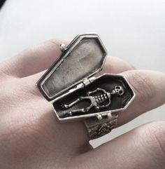 Skeleton In Coffin ring