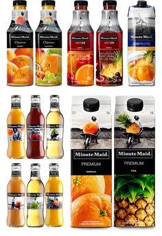 Rediseño de todos lo productos Minute Maid y creación de una nueva gama de sabores.